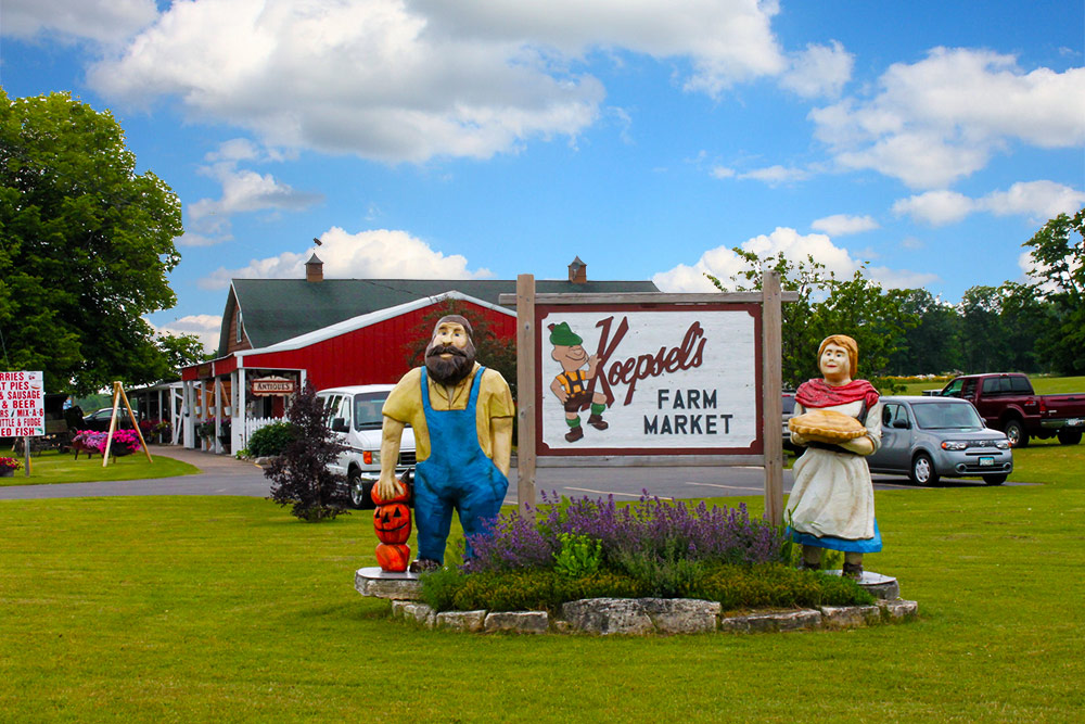 Koepsels Farm Market In Business Since 1958 Door County Wisconsin