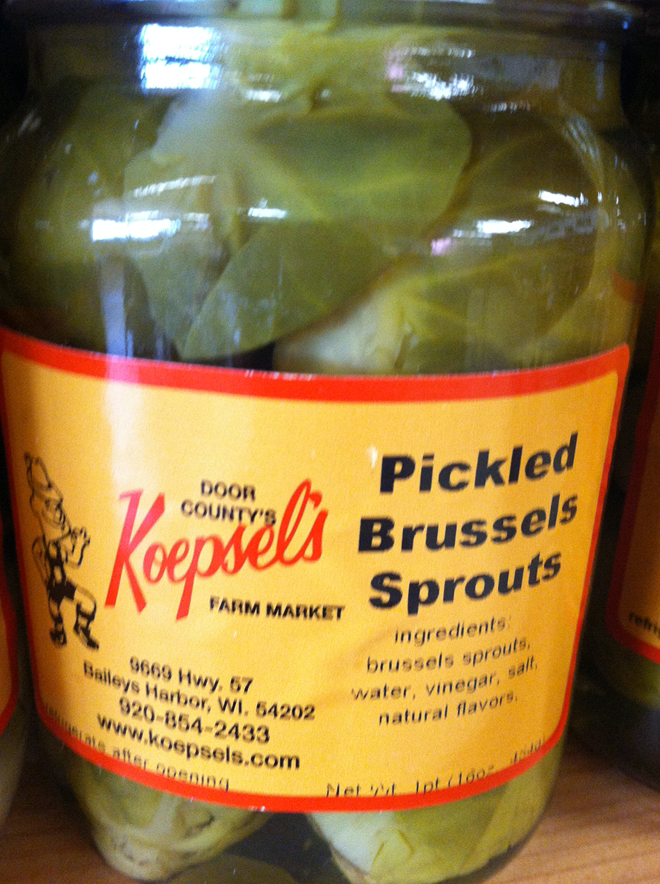 Pickled Brussel Sprouts - Koepsels